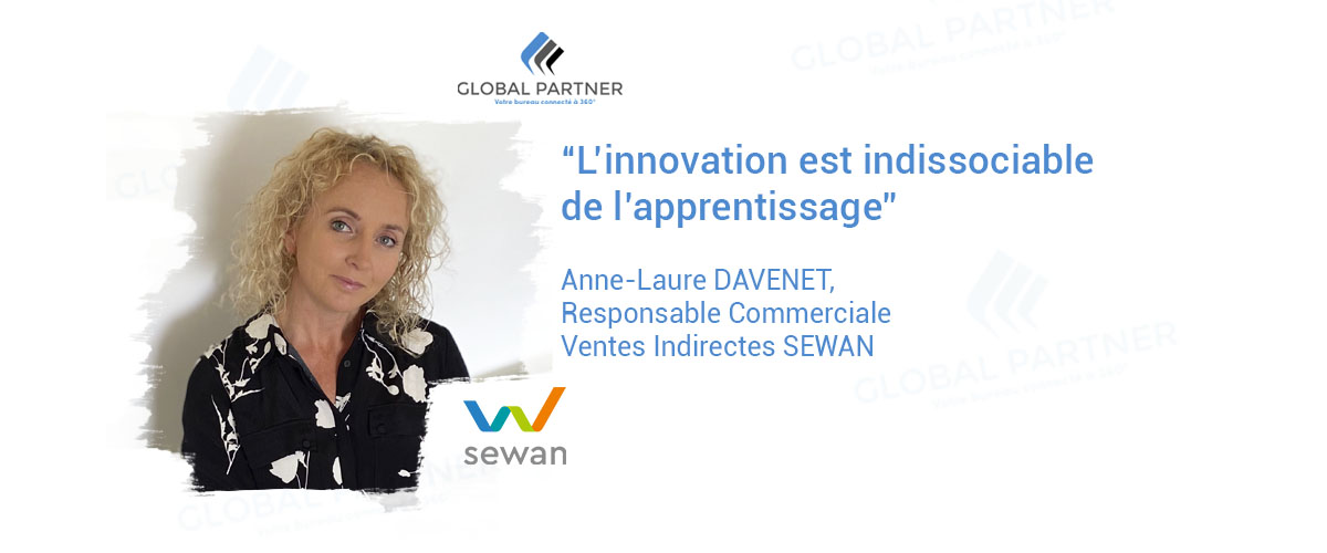 Photo de Anne Laure Davenet responsable commerciale ventes indirectes sewan chez Global Partner