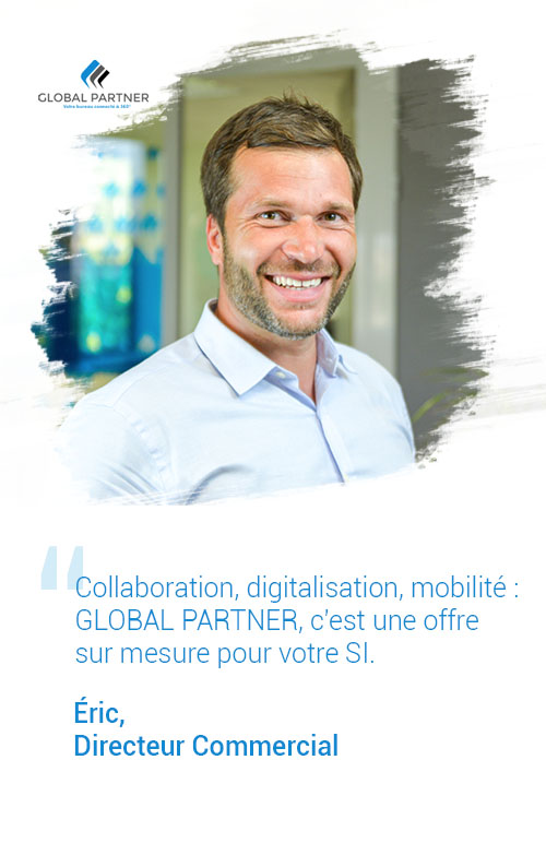 Photo d'Éric Directeur Commercial, un metier global partner