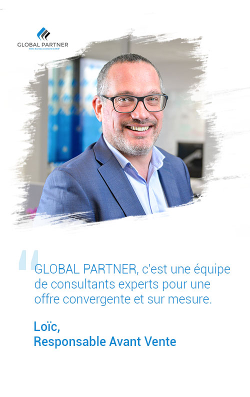 Photo de Loic responsable avant vente, un metier global partner