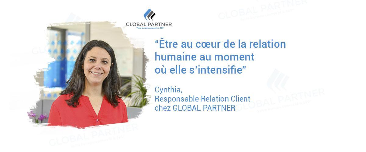 Photo de Cynthia responsable relation client chez global partner