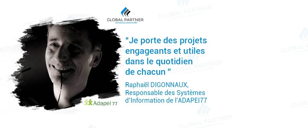 Photo de Raphaël Digonnaux, RSI chez ADAPEI77